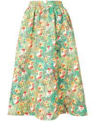 Han Ahn Soon - Full Floral Print Skirt - Lyst
