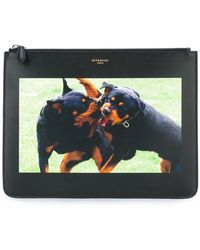 Givenchy Rottweiler Print Pouch - Black