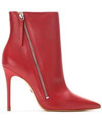 Schutz S0209105480003 Scarlet Furs & Skins->leather - レッド