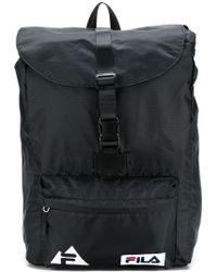 Fila - Logo Buckled Backpack - Lyst