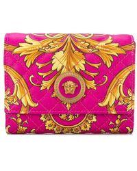 Versace Baroque Print Wallet - Pink