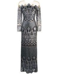 Tadashi Shoji - Sequin Embroidered Evening Dress - Lyst