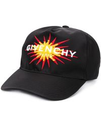 Givenchy Flocked appliqué baseball cap - Noir