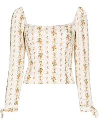 Reformation Ariana Floral Print Blouse - Multicolor