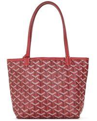 Goyard Junior Mini Tote Bag - Red