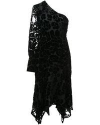 Josie Natori Бархатное Платье С Выжженным Эффектом - Черный