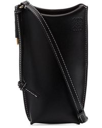 Loewe Gate Pocket Leather Bucket Bag - Black