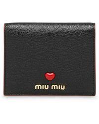 Miu Miu マドラス 財布 - ブラック