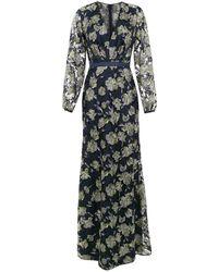 Tufi Duek Embroidered Long Dress - Blue