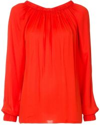 Tibi - Ruched Blouse - Lyst