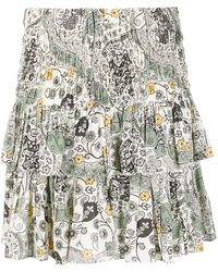Étoile Isabel Marant 'Naomi' Rock mit Blumen-Print - Weiß