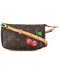 Louis Vuitton 2005 Logo Cherry Crossbody Bag - Brown