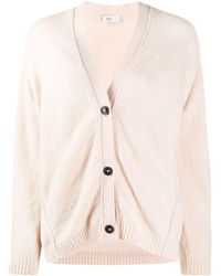 Closed Button-up Knitted Cardigan - Multicolour