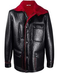 Valentino レザージャケット - ブラック