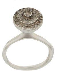 Rosa Maria Diamond-embellished Round Ring - Multicolour