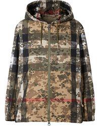 Burberry Giacca leggera con stampa camouflage - Verde