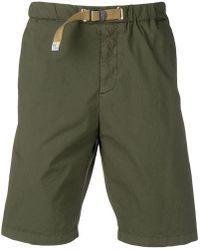White Sand Khaki Green Shorts