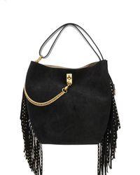 Givenchy フリンジ バケットバッグ - ブラック