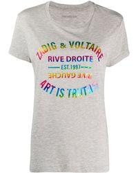 Zadig & Voltaire T-shirt Walk Blason - Gris