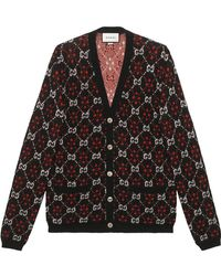 Gucci - Gg Diamond Wool Cardigan - Lyst