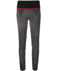 Prada Contrasting Waistband leggings - Gray