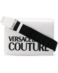 Versace Jeans Schultertasche mit Klappe - Weiß
