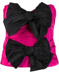Carmen March Bow Detail Bustier Top - Pink