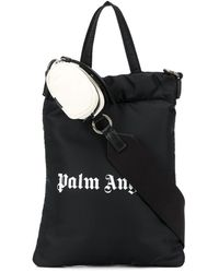 Palm Angels Bolso De Nylon Estampado - Negro