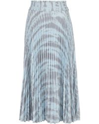 PROENZA SCHOULER WHITE LABEL Pleated Tie-dye Skirt - Grey