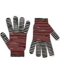 Missoni Striped Gloves - Black