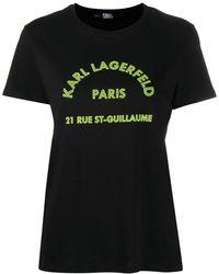 Karl Lagerfeld Футболка С Круглым Вырезом И Логотипом - Черный