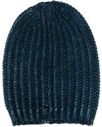 Avant Toi Chunky-ribbed-knit Beanie - Blue