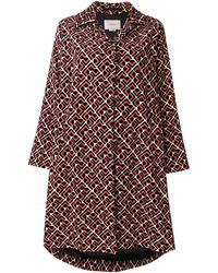 LaDoubleJ Velvet Loden Domino Coat - Red