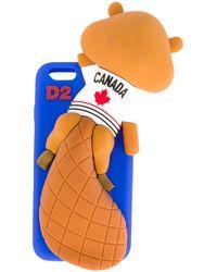 DSquared² Чехол 'chewing Beaver' Для Iphone 6 - Синий