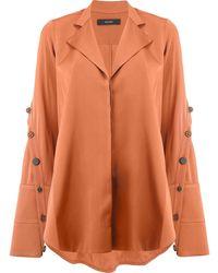 Ellery Explosive サイドスリットシャツ - オレンジ