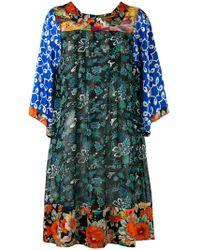 Duro Olowu Seidenkleid mit Mustermix - Blau