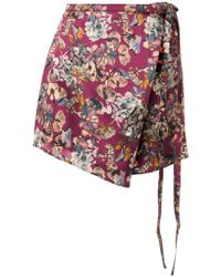 Y. Project - Floral Print Wrap Skirt - Lyst