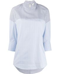 3.1 Phillip Lim Blouse à design patchwork - Bleu