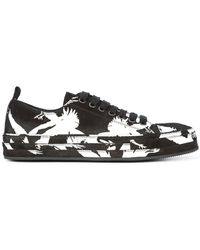 Ann Demeulemeester - Contrast Print Low-top Sneakers - Lyst