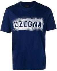 Z Zegna ロゴ Tシャツ - ブルー