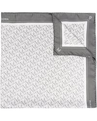 Magda Butrym Monogram-print Silk Scraf - Grey