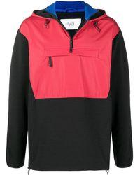 Aztech Mountain Hoodie Hut Fleece colour block - Rouge