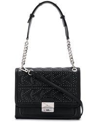 Karl Lagerfeld K/kuilted Studs Small Shoulderbag - Black