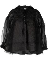 Renli Su Bellis Floral-jacquard Jacket - Black