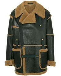 Kolor - Side Zip Leather Coat - Lyst