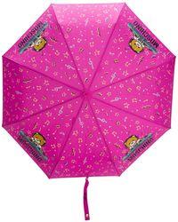 Moschino Paraplu Met Print - Roze