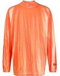 Heron Preston Stonewashed Turtleneck Top - Orange