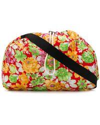 Plan C Floral Shoulder Bag - Orange
