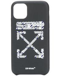 Off-White c/o Virgil Abloh Funda para iPhone 11 con cinta - Negro