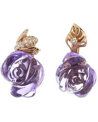 Dior 2010s Pre-owned Pré Catelan Earring - Purple